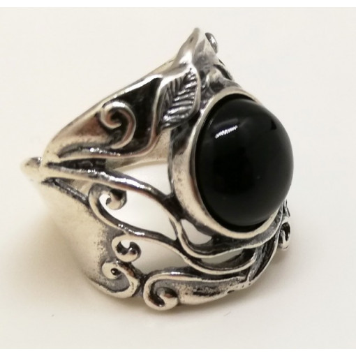 Inel argint onix R1261
