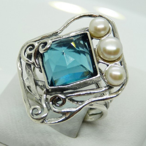 Inel argint R5471 - topaz