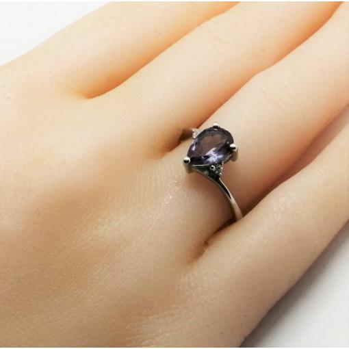 Inel delicat din argint cu alexandrit -VR016673