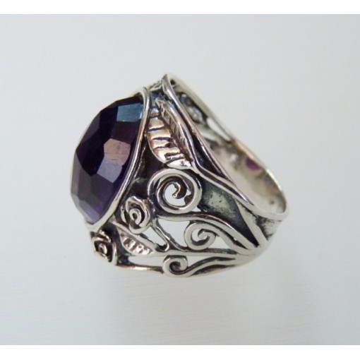 Inel din argint ametist R7962
