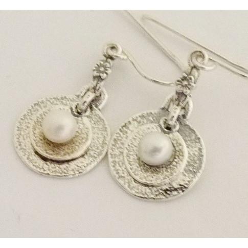 Cercei argint cu perla E1546