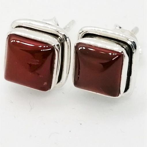 Cercei argint - E236 onix rosu