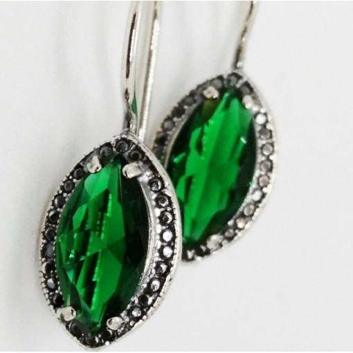 Cercei argint -green quartz -E2865