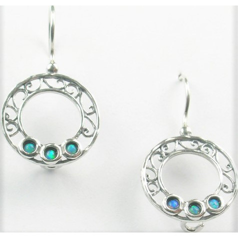 Cercei argint OPAL- E4371