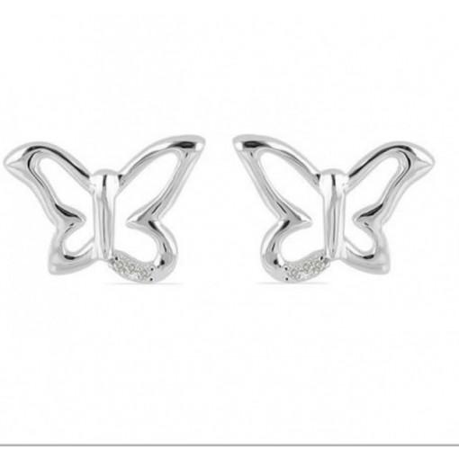Cercei din argint cu diamant I3-taietura dubla VE031947