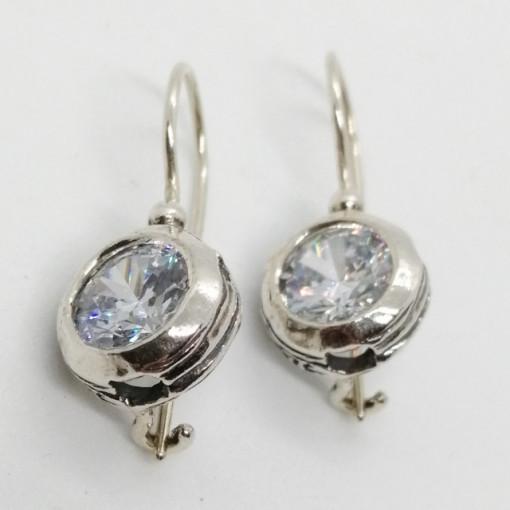 Cercei din argint cu zircon -E9741