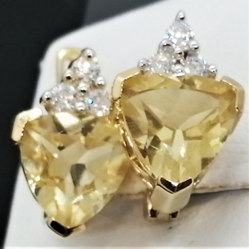 Cercei Sophie -argint placat cu aur -VE014552 lemon topaz