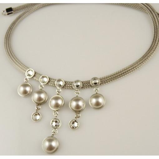 Colier argint -perla de cultura si swarovski -N1402746