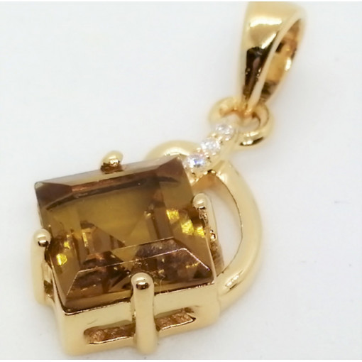 Colmar - Pandantiv argint placat cu aur galben -VP014694-nanoziltanit