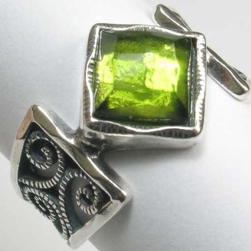 Inel argint R4539 peridot