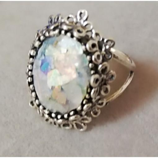 Inel argint R7454 - sticla romana
