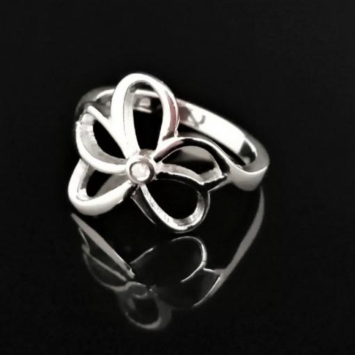 Inel din argint cu diamant alb I3-taietura dubla VR031920