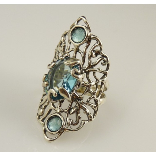 Inel din argint -topaz-R10377