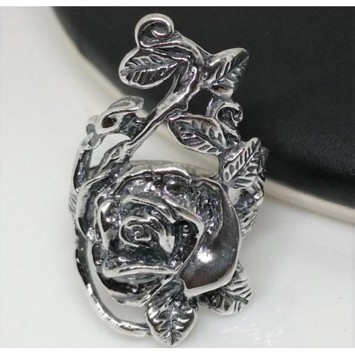Inel lat -argint cu spirale -R2202