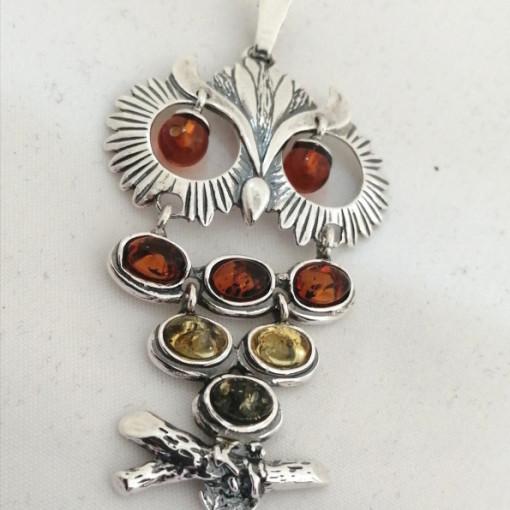 Pandantiv argint chihlimbar P868-BUFNITA
