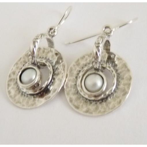 Cercei argint cu perla E887