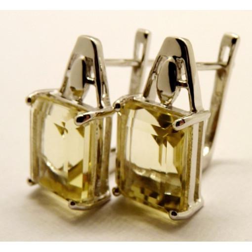 Cercei argint lemon quartz-VE012691