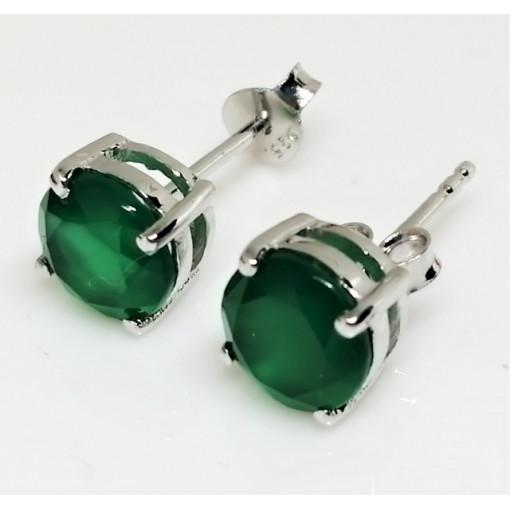 Cercei argint onix verde-VE015145