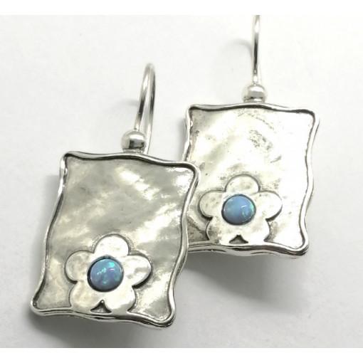 Cercei argint OPAL- E1836