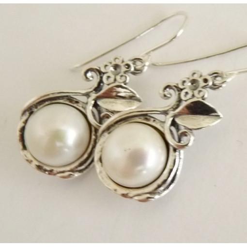 Cercei din argint - perla E1961