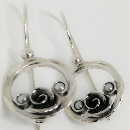 Cercei din argint perla -E4066