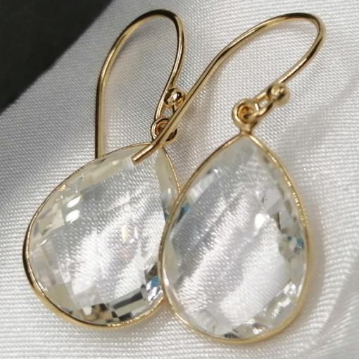 Cercei Ronda -argint placat cu aur VE017554 -cristal