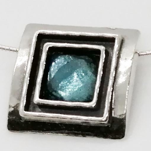 Colier argint N1844 topaz