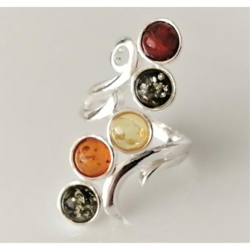 Inel argint -chihlimbar -R3481