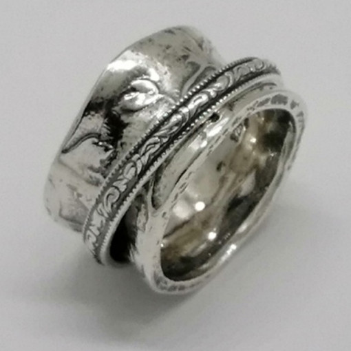 Inel argint cu verigi pivotante-R1645