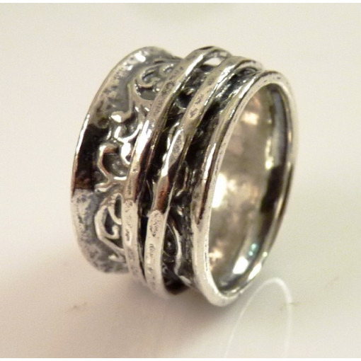 Inel argint cu verigi pivotante-R734