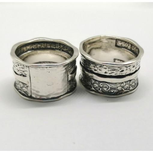 Inel argint lucrat in relief R4469