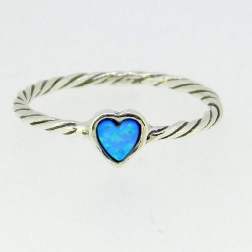 Inel argint opal inimioara-R11717