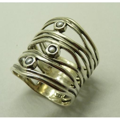 Inel argint perla R2468