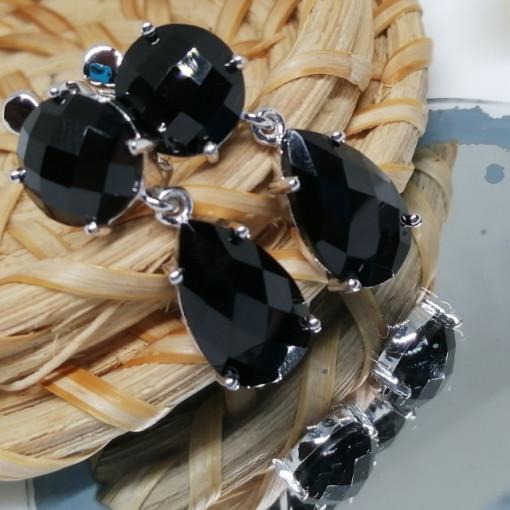 Cercei argint onix-VE030223