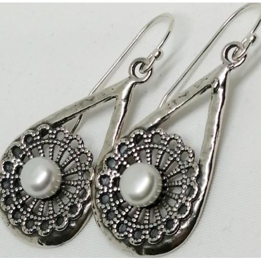 Cercei argint perla E8405