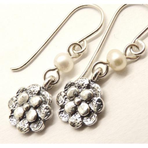 Cercei argint si perle E942
