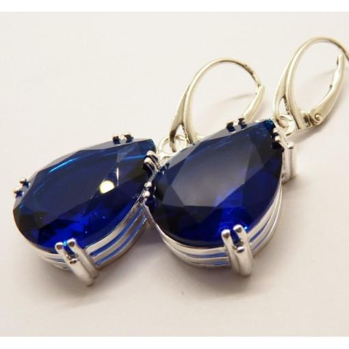 Cercei masivi argint blue quartz -E3243
