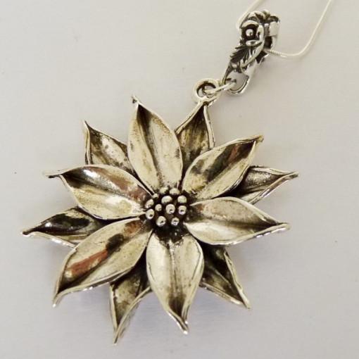 Colier din argint-floare de lotus -E10857