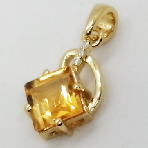 Colmar - Pandantiv argint placat cu aur galben -VP014694-citrin