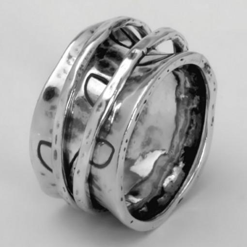 Inel argint cu verigi pivotante-R739