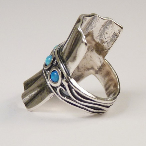 Inel argint opal R1712