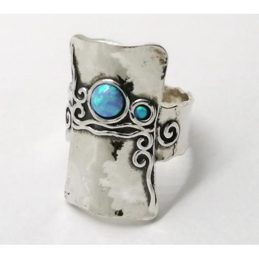 Inel argint OPAL- vintage style R1820