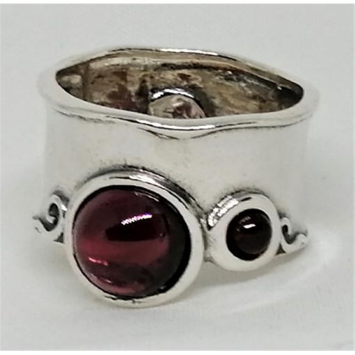 Inel din argint granat R1585