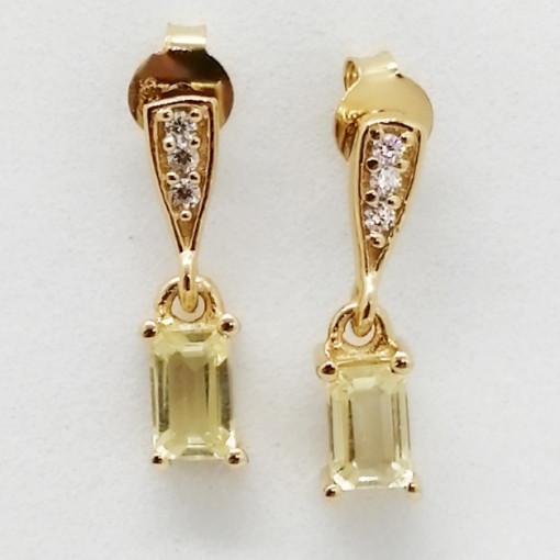 VIGO -cercei argint placat cu aur si lemon topaz VE015169