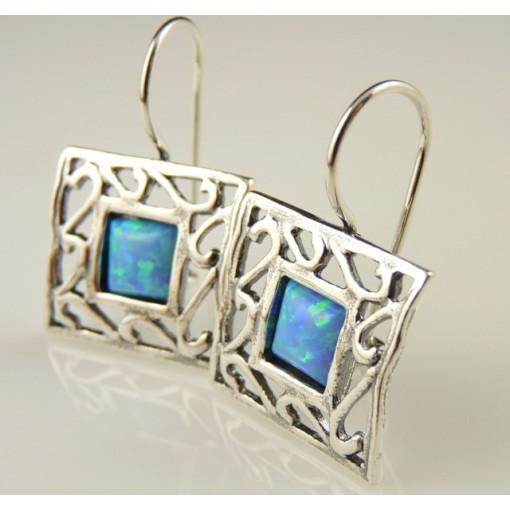 Cercei argint opal E1369