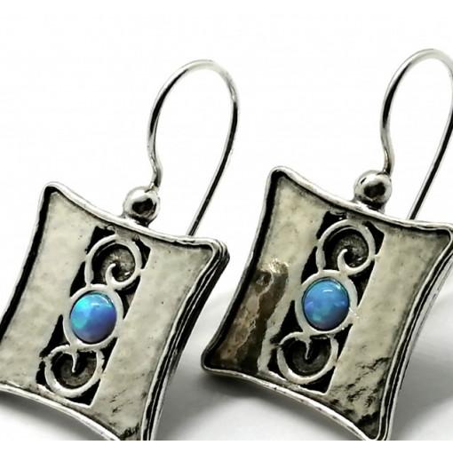 Cercei argint opal E1753