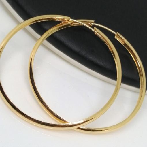 Cercei argint placat cu aur galben-creole mari - E3632