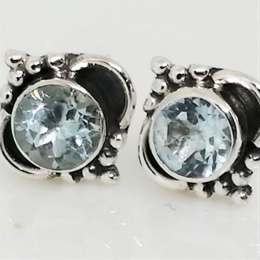 Cercei argint topaz - E256