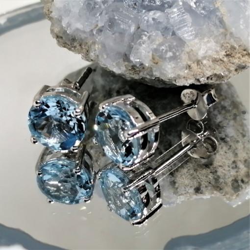 Cercei argint topaz-VE015145