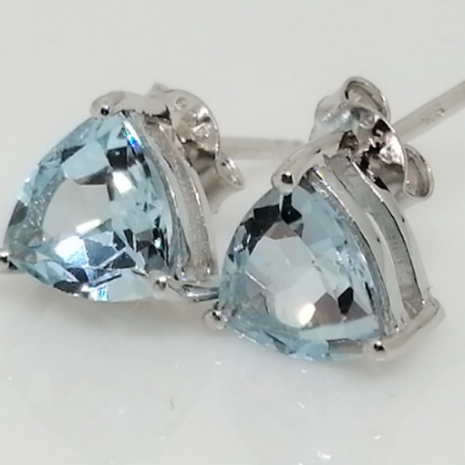 Cercei delicati din argint cu surub VE015851-topaz